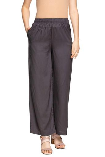 Womens Solid Palazzos