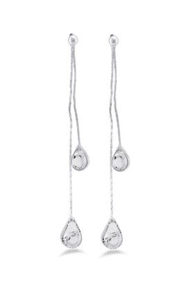 JAZZFashion Jewelrly Design A D Stone With Long Chain Earring