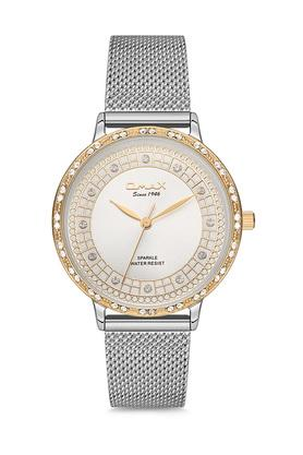 Womens Sparkle White Dial Alloy Analogue Watch - FA9-SPM01T66I