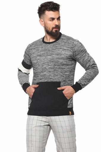 CAMPUS SUTRA -  GreySweatshirts - Main