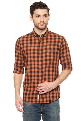 LOUIS PHILIPPE JEANS -  BrickCasual Shirts - Main