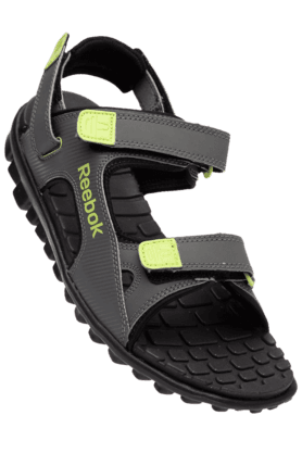 REEBOK Mens Grey City Flex Velcro Closure Sandal