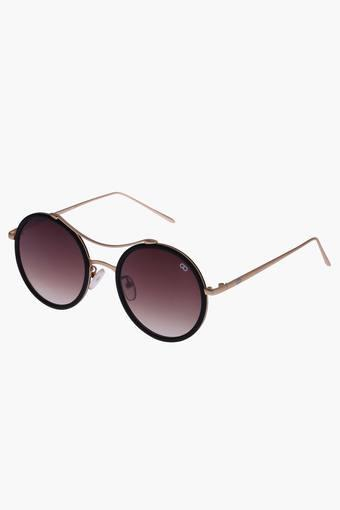 Unisex Round Polycarbonate Sunglasses VS185C1BK