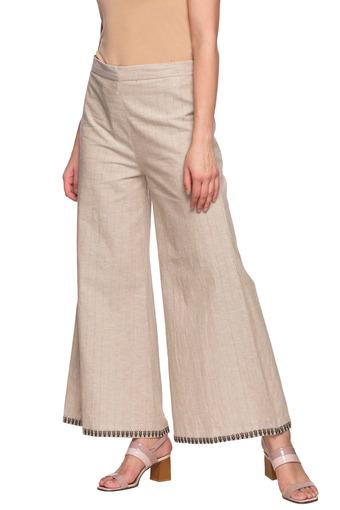 Womens Striped Flared Pants