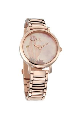 4e0c9341c00 X TITAN Womens Valentines Day Collection Rose Gold Dial Metallic Analogue  Watch ...