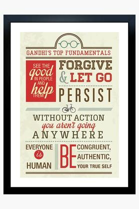 CRUDE AREA Multi Colour Gandhis Top Fundamentals Printed Paper Poster  ...