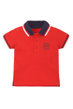 MOTHERCARE Boys Cotton Polo Neck Short Sleeves T-shirt