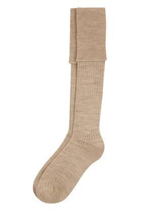 Mens Slub Knitted Crew Socks