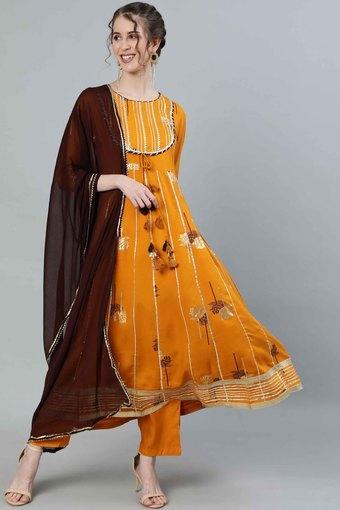 ISHIN -  MustardIndianwear Sets - Main