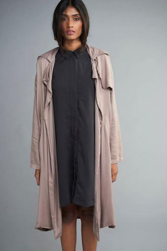 Women Beige Twill Jacket
