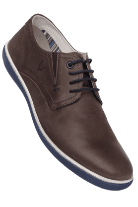 ALLEN SOLLY Mens Leather Lace Up Casual Shoe