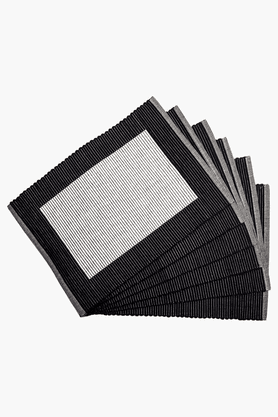 MASPAR Pin Rib Black Placemat - Set Of 6