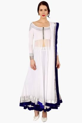IRA SOLEILWomens Boat Neck Lehenga Set (Buy Any Ira Soleil Product And Get A Necklace Free)