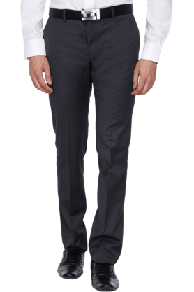 BLACKBERRYS Mens Slim Fit Solid Formal Trouser