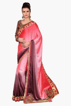 DEMARCA Womens Embroidered Saree - 201151782
