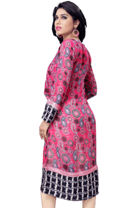 DEMARCA Womens Printed Kurta (Buy Any Demarca Product & Get A Pair Of Matching Earrings Free) - 200936904