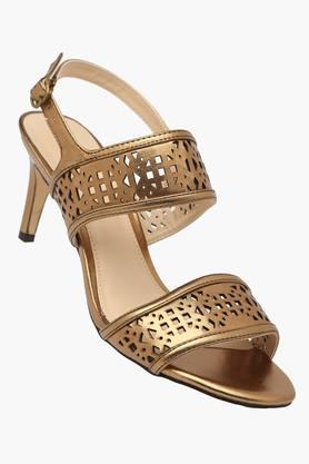 VENTURINIWomens Ethnic Ankle Buckle Closure Heel Sandals (Moochie Collection)