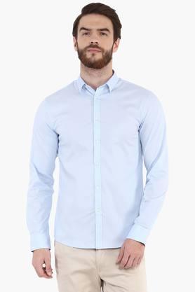 Celio Formal Shirts (Men's) - Mens Slim Fit Solid Shirt