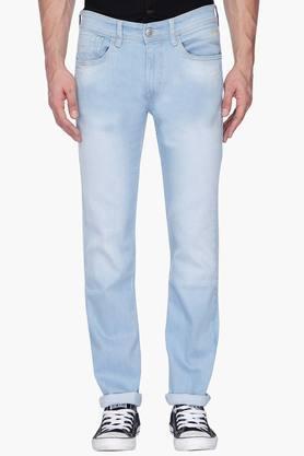 FLYING MACHINEMens Slim Fit Mild Wash Jeans (Prince Fit)