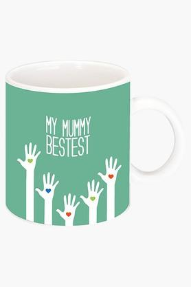 CRUDE AREA My Mummy Bestest Printed Ceramic Coffee Mug