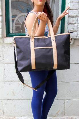 Womens Pu Zipper Closure Tote Handbag