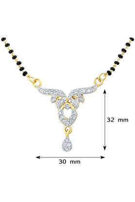 MAHIMahi Daily Wear Fashion Mangalsutra Pendant Of Brass Alloy With CZ For Women PS1191405G