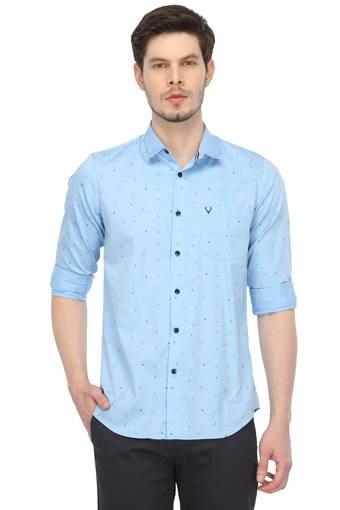 ALLEN SOLLY -  Light Blue Casual Shirts - Main