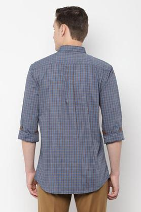 ALLEN SOLLY - Charcoal Casual Shirts - 1