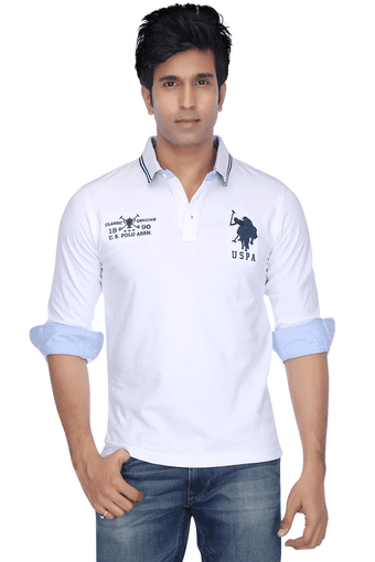 4290783a9 Mens Full Sleeves Slim Fit Solid Polo T