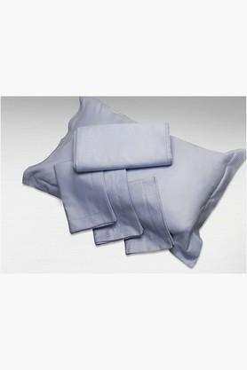 """ST CLOUDSterling Blue Solid Pillow Covers (Pillow Cover 18"""" X 27"""" (2 Pcs)"""