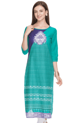 AURELIA Women Slim Fit Printed Kurta - 200758932