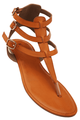 LIFE Womens Casual Ankle Buckle Closure Flat Sandal - 200619703