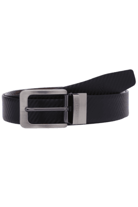 VAN HEUSEN Mens Textured Leather Formal Belt