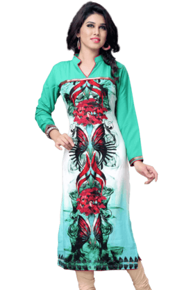 DEMARCAWomens Printed Kurta (Buy Any Demarca Product & Get A Pair Of Matching Earrings Free) - 200936905
