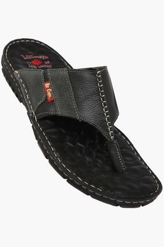 c23d21cbe296 Buy LEE COOPER Mens Leather Slip On Slippers