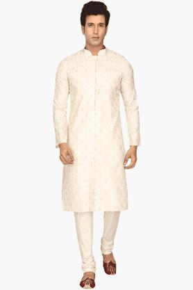 Mens Cotton Embroidered Kurta Set