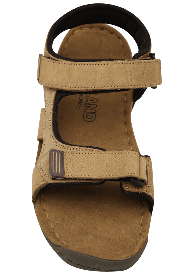 e0c39d95492 Buy WOODLAND Mens Nubuck Olifel Velcro Closure Sandal