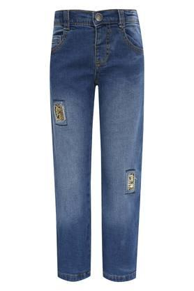 Girls 5 Pocket Sequined Jeans