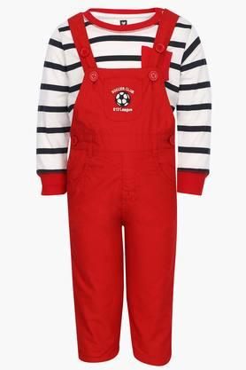 Boys Solid Dungaree