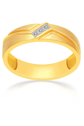 MALABAR GOLD AND DIAMONDS Mens Mine Diamond Ring - Size 19
