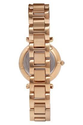 Womens Rose Gold Dial Metallic Multi-Function Watch - ES4542I