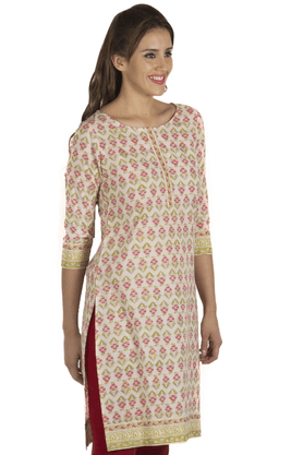 FUSION BEATS Women Cotton Kurta