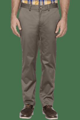 PARK AVENUEMens Slim Fit Solid Formal Trousers