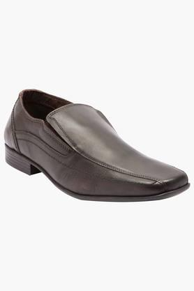 Mens Leather Slip On Formal Loafers - 200874653