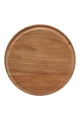 Round Wooden Motif Rolling Base