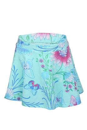 Girls Floral Printed Skorts