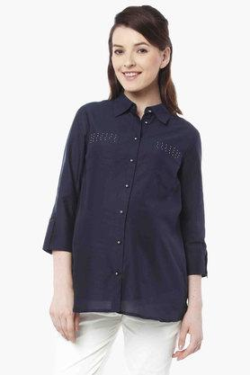 NINE MATERNITY Maternity Studded Nursing Shirt