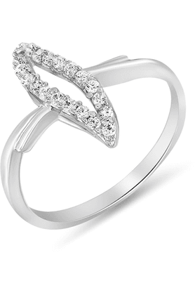 MAHIMahi Rhodium Plated Evening Blush Ring With CZ Stones For Women FR1100053R