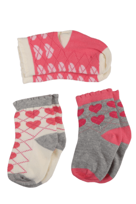 KARROT Girls Woollen Printed Socks Set Of 3