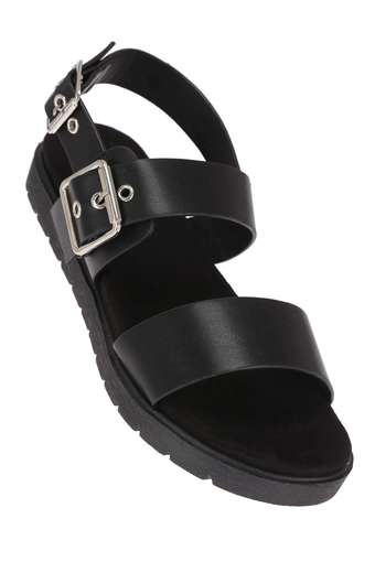Womens Casual Wear Buckle Closure Platforms